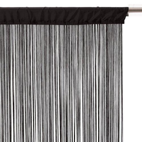 rideau fil noir pas cher. Black Bedroom Furniture Sets. Home Design Ideas
