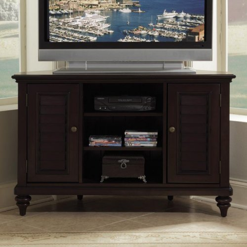 Cheap Bermuda 50″ Corner TV Stand in Espresso (88-5542-07)