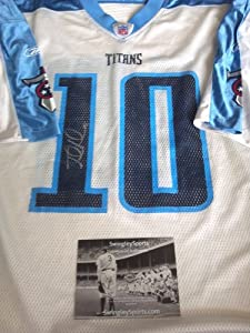 Jake Locker Signed Tennessee Titans Football Jersey