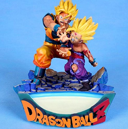 Rosy Women Dragon Ball Z Goku Gohan Father Son Super Saiyan State 1 Pvc Action Figures Collection Model Toys Doll 18Cm