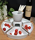 Kitchen - Kabalo 11pc Ceramic Chocolate Fondue Set With Stainless Steel Forks
