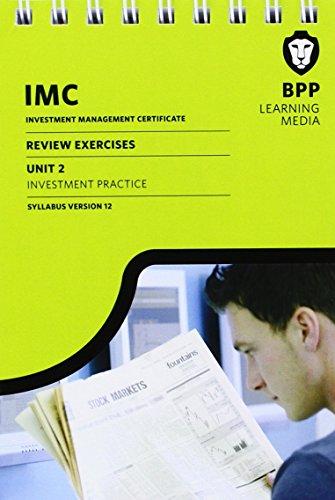 IMC Unit 2 Syllabus Version 12: Review Exercises