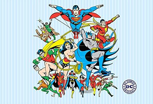 1-Wall-Papier-peint-Mural-Motif-Superman-Batman-Comic-Justice-League-158-X-232-m