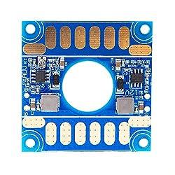TOOGOO(R) 5V 12V Adjustable Voltage Dual BEC Output Board ESC Distribution Connection Board Blue