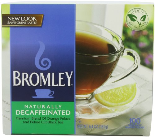 Bromley Decaffeinated Tea Bags, 100-Count Units (Pack Of 5)