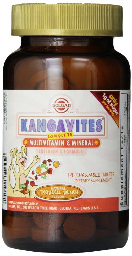 Solgar Kangavites Multivitamins for Childrens ( Tropical Punch) 120 Tablets