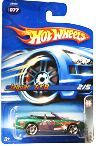 Mattel Hot Wheels 2006 1:64 Scale Green Jaguar XK8 Die Cast Car #077