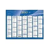 Quo Vadis - 1 Calendrier De Banque Bleu 430x335mm Année 2017...
