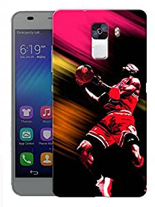 "Humor Gang Michael Jordan Printed Designer Mobile Back Cover For ""Huawei Honor 7"" (3D, Matte, Premium Quality Snap On Case)"