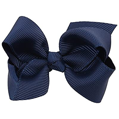 "Girls 3"" Grosgrain Ribbon Boutique Hair Bows with Alligator Clip Pack of 4"