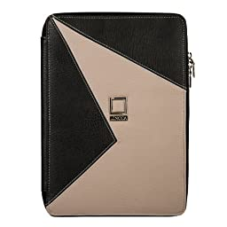 Lencca - Minky Edition Portfolio Carrying Case, Elegance Executive Business Travel High Quality Eco Friendly Leather For Amazon Kindle Fire HD 8.9\