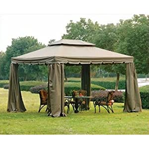 Simple  x Scalloped Two Tiered Gazebo Replacement Canopy