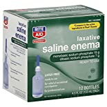 Rite Aid Pharmacy Saline Enema, Laxative, 12 - 4.5 fl oz (133 ml) bottles