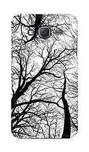 AMEZ designer printed 3d premium high quality back case cover for Samsung Galaxy J5 (trees black white)
