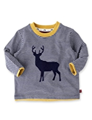 Autograph Pure Cotton Stag T-Shirt