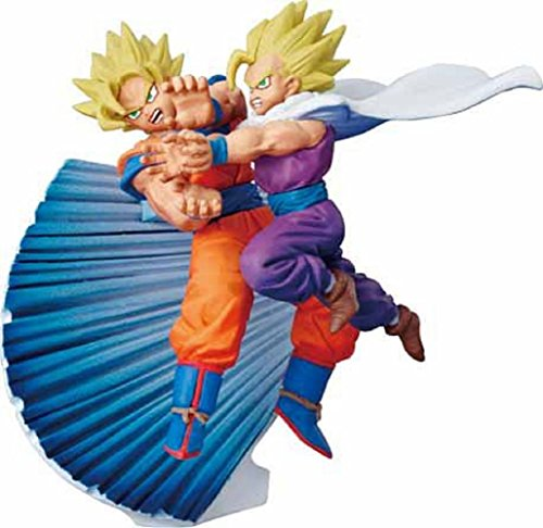 Dragonball Z Capsule Returns - Legendary Warriors Super Saiyan Edition ~ Father Son Kamehameha 4 Inch PVC Figure (Opened to Identify)