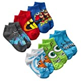 Disney-Pixar Toddler Boy's Multi-Character 6-pack 1/4-Crew Socks - (2T-4T)