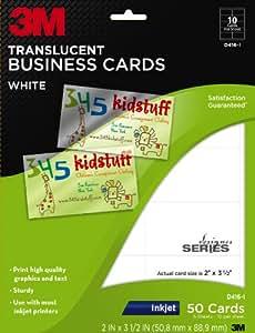 Amazon 3M Translucent Business Cards White