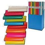 10er Rollen Set Colour Mix Geschenkpapier 200 x 70 cm...