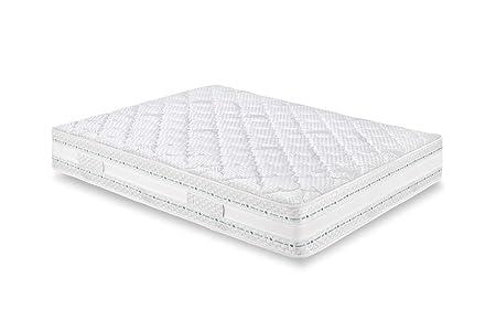 Eminflex -  Pisa Materasso, Touch Foam e Memory Foam, tre strati ad onda,  Bianco,  A Una Piazza e Mezza,  120x200