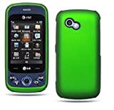 Metalic Green Rubber Touch Snap-On 2 pcs Phone Protector Hard Cover Case fo ....