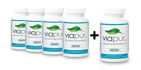 viapur® ARGININ, Aminosäuren, Mineralstoffe und Vitamine, 4 Dosen + 1 Dose Gratis, ausreichend fur 5 Monate