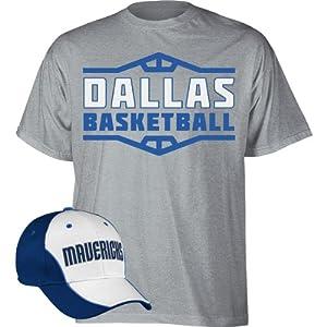 NBA adidas Dallas Mavericks Hat and T-Shirt Combo by adidas