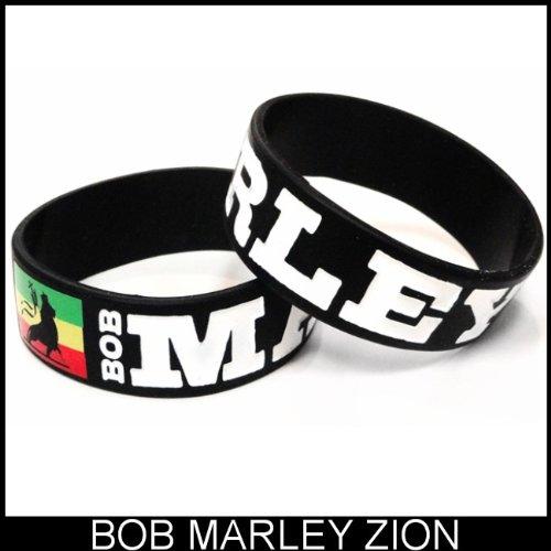 Bob Marley Zion Designer Rubber Saying Bracelet