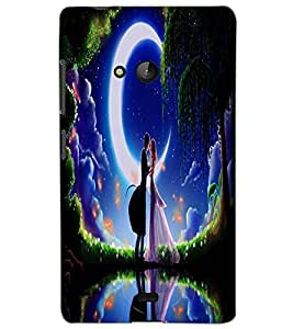 MICROSOFT LUMIA 540 DUAL LOVE COUPLE Back Cover by PRINTSWAG