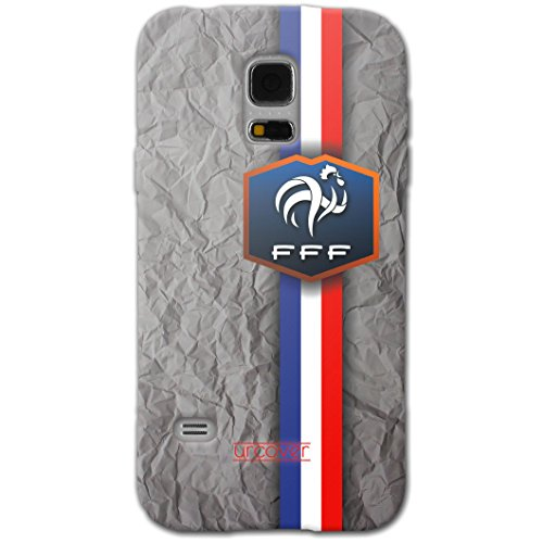 [EM SPEZIAL] Samsung Galaxy S5 Fussball Handyhülle mit Staubschutzkappen von original Urcover® in der UEFA EURO 2016 Edition Galaxy S5 Schutzhülle Case Cover Etui Europameisterschaft 2016 Fahne Fanartikel Team Frankreich