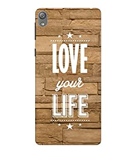 EPICCASE love your life Mobile Back Case Cover For Sony E5 (Designer Case)