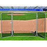 Baseball Big League Fungo Protector Screen W Wings - BIG LEAGUE SCREEN WITH WINGS by Jaypro Sports