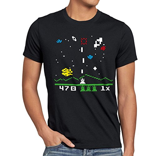 style3 Sheldon Alien Invader T-Shirt Mens, Size:XL;Color:Black