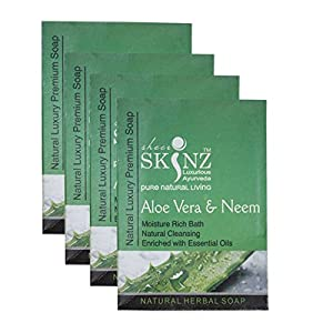Sheer Skinz Aloevera & Neem Soap-75gm (Box Packing) (Set Of 4)