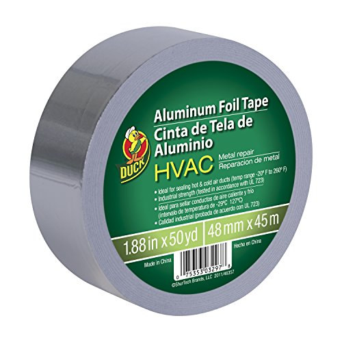 Duck Brand 240225 HVAC UL 723 Metal Repair Aluminum Foil Tape, 1.88-Inch by 50 Yards, Single Roll, Silver (Hvac Tape compare prices)