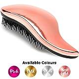 #1 BEST Detangling Brush - Lily England Detangler brush for Wet, Dry, Fine, Thick & Kids Hair. No More Tangle! 100% Lifetime 'Happiness' Guarantee! Rose Gold