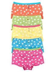 5 Pack Pure Cotton Star Print Boxers