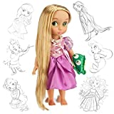 Official Disney Tangled Rapunzel 38cm Animator Toddler Doll With Accessory Pascal