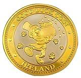 Collectors Edition Good Luck Design Coin With Leprechaun And Gold Coin