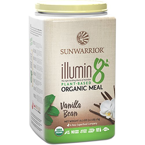 Sunwarrior - Illumin8, Plant-Based Organic Meal, Vanilla Bean, 25 Servings (2.2 lbs) (Sunwarrior Protein Natural compare prices)