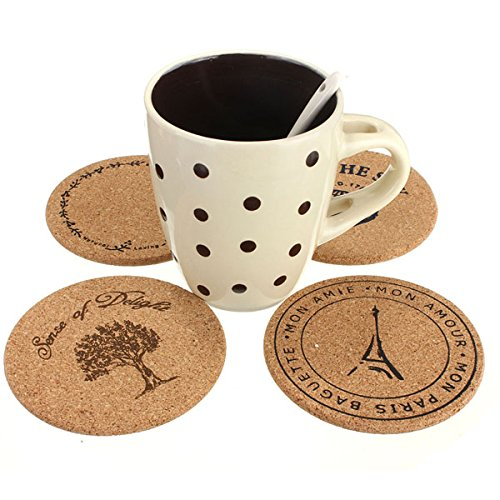 Cork Wooden Round Coffee Mug Cup Coaster Thermal insulation Drink Mat