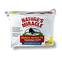 Nature\'s Miracle Quick Results Training Pads, 80-Count (P-5280)