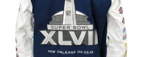 GIII(ジースリー) NFL Super Bowl XLVII Commemorative Varsity ジャケット