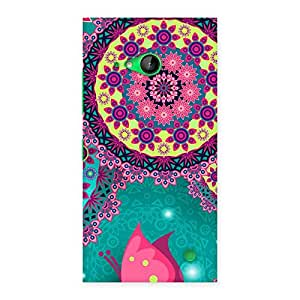 Ajay Enterprises WotVintage Round Pattern Multicolor Back Case Cover for Lumia 730