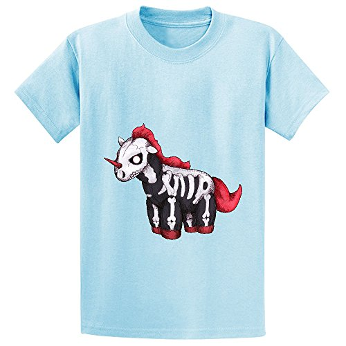 Mcol Evil Unicorn Boys' Crew Neck Personalized Shirts L-blue (Auge Robot compare prices)