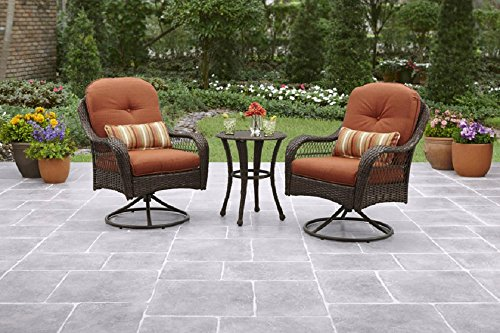 4e894c92a289 3-Piece Outdoor Bistro Set is Perfect For Small Spaces Like A Balcony As  Well As Patio, Garden or Deck Furniture.