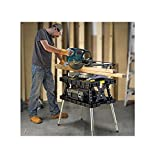 Keter 17200954 Folding Work Table EX with Extendable Legs and 2 C-Clamps Black/Green 700-LB