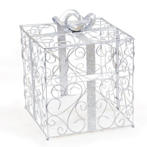 Cathy'S Concepts Reception Gift Card Holder, Silver back-721229