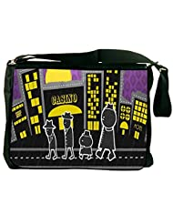 Snoogg Walking In Front Of The Casino 2728 Laptop Messenger Bag