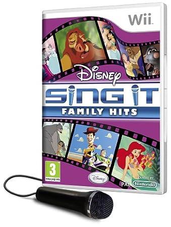 Disney Sing It Family Hits plus Microphone (Wii) [Importación inglesa]